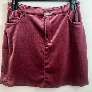 Forever 21 Velour Mini skirt size L